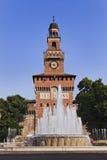 米兰城堡天Vert 库存图片