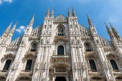 米兰大教堂中央寺院二米兰在米兰,意大利 库存照片