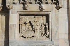米兰大教堂中央寺院,圆顶,国王salomon床 库存图片