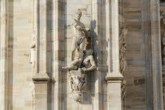 米兰大教堂中央寺院,圆顶, 图库摄影
