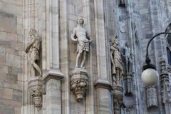 米兰大教堂中央寺院,圆顶 免版税库存图片