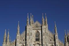 米兰大教堂中央寺院,圆顶 免版税库存照片