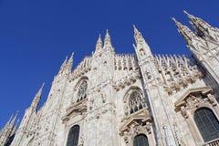 米兰大教堂中央寺院,圆顶 库存照片