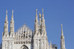 米兰大教堂中央寺院,圆顶 库存图片