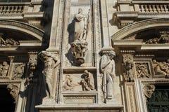 米兰大教堂中央寺院,圆顶 图库摄影