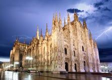 米兰大教堂圆顶-意大利 免版税库存图片
