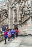 米兰大教堂屋顶的游览  库存图片