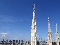 米兰大教堂屋顶 免版税库存照片
