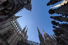 米兰大教堂屋顶 免版税图库摄影