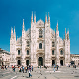 米兰大教堂或中央寺院二米兰是米兰大教堂教会  免版税库存照片