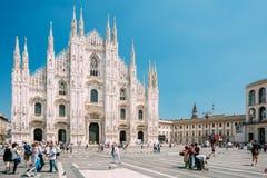 米兰大教堂或中央寺院二米兰是Mi大教堂教会  免版税库存照片