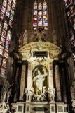 米兰大教堂的圣徒 免版税库存照片