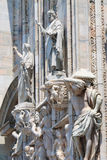 米兰大教堂雕象 库存照片
