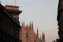 米兰大教堂,圆顶,中央寺院 免版税图库摄影