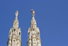 米兰大教堂,圆顶,中央寺院 库存图片