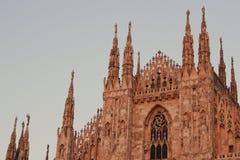 米兰大教堂,圆顶,中央寺院 免版税库存照片