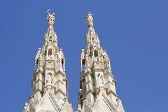 米兰大教堂,圆顶,中央寺院 图库摄影