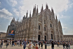 米兰大教堂 库存照片