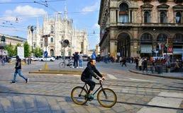 米兰意大利广场中央寺院 免版税库存图片
