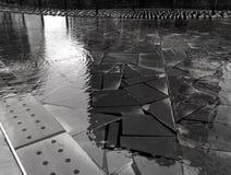 米兰意大利,反射水池在新的市中心 免版税图库摄影