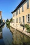 米兰意大利:Martesana运河  库存图片