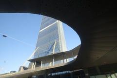米兰意大利 摩天大楼在Citylife 库存照片