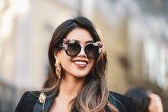 米兰时尚星期-街道样式 图库摄影