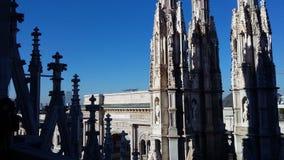 从米兰的看法 库存照片