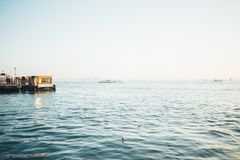 米兰运河的看法 米兰,意大利 库存照片