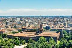 米兰都市风景,意大利 免版税图库摄影