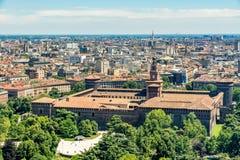 米兰都市风景,意大利 库存照片
