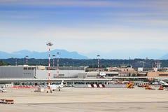 米兰马尔彭萨机场 库存照片