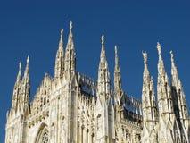 米兰,中央寺院大教堂1351,意大利, 2013年 库存图片