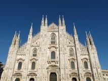 米兰,中央寺院大教堂1355,意大利, 2013年 库存图片