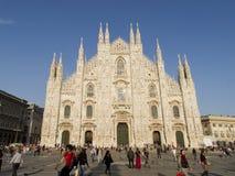 米兰,中央寺院大教堂1435,意大利, 2013年 免版税库存照片