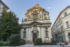 米兰,圣朱塞佩教会 库存图片