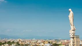 米兰,意大利全景鸟瞰图  库存图片