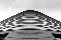米兰,意大利,财政区视图 免版税图库摄影