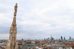 米兰,意大利,财政区视图 免版税库存图片