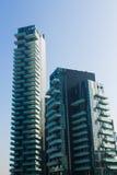 米兰,意大利,财政区视图 库存照片