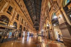 米兰,意大利:圆顶场所维托里奥Emanuele 免版税库存图片