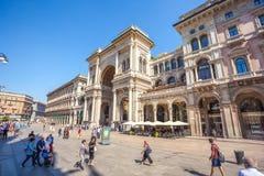 米兰,意大利- 25 06 2018年:对圆顶场所维托里奥以马内利的入口 库存照片