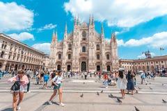 米兰,意大利- 25 06 2018年:米兰大教堂是大教堂chur 免版税库存照片