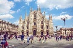 米兰,意大利- 25 06 2018年:米兰大教堂是大教堂chur 图库摄影