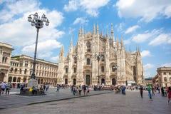 米兰,意大利- 25 06 2018年:米兰大教堂是大教堂chur 免版税库存图片