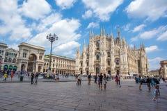 米兰,意大利- 25 06 2018年:米兰大教堂是大教堂chur 免版税图库摄影
