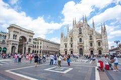 米兰,意大利- 25 06 2018年:米兰大教堂是大教堂chur 库存图片