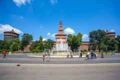 米兰,意大利- 25 06 2018年:Sforza城堡- Castello的Sforzesco 免版税库存照片
