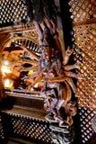 米兰,意大利- 2015年10月20日, :在繁体中文文化的精妙的雕刻 免版税库存照片