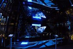 米兰,意大利- 2015年10月20日, :计算机控制的新的照明设备技术 图库摄影